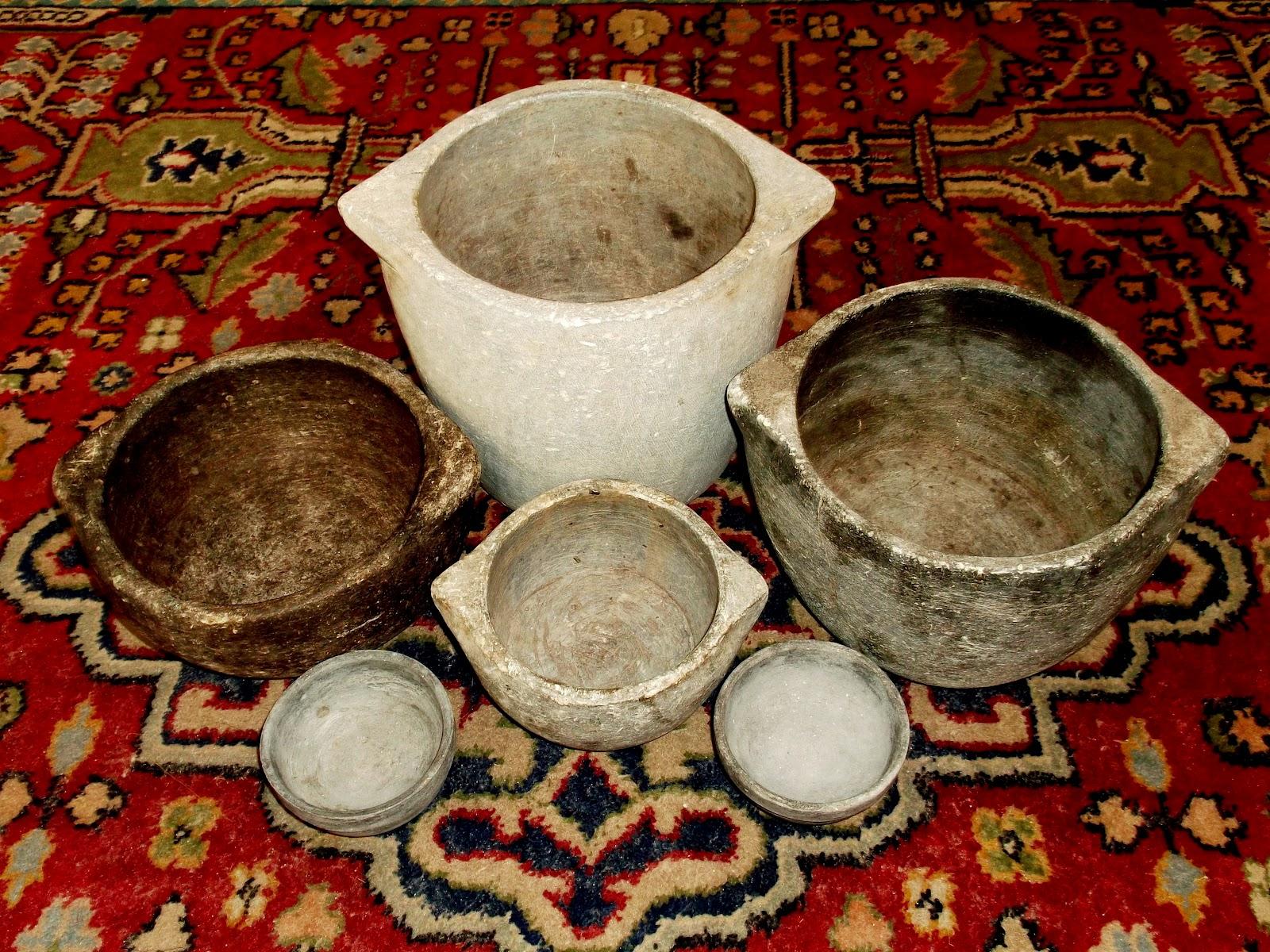 Antique Stone Cooking Pots