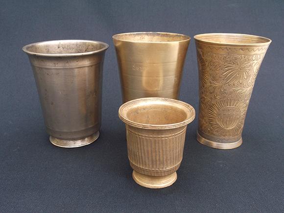 Vintage Bronze Drinking Water Glass