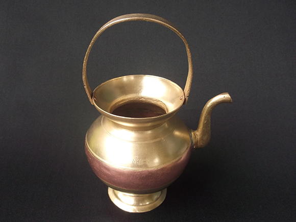 Side view of Antique Brass and Copper Kamandalam.