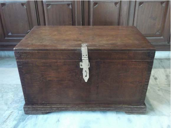 Vintage Burma Teak Wood Trunk Box