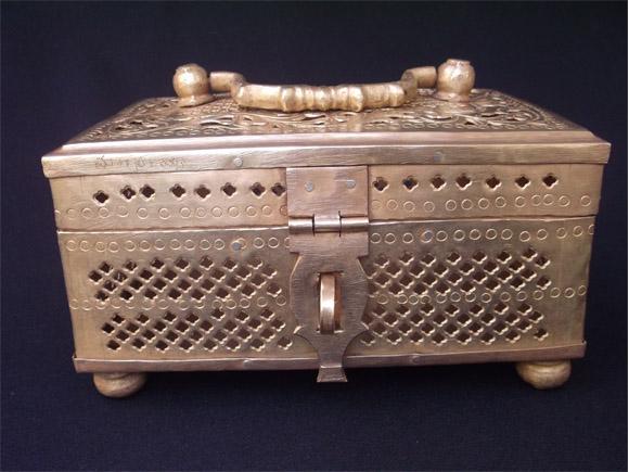 Antique Brass Vanity Box