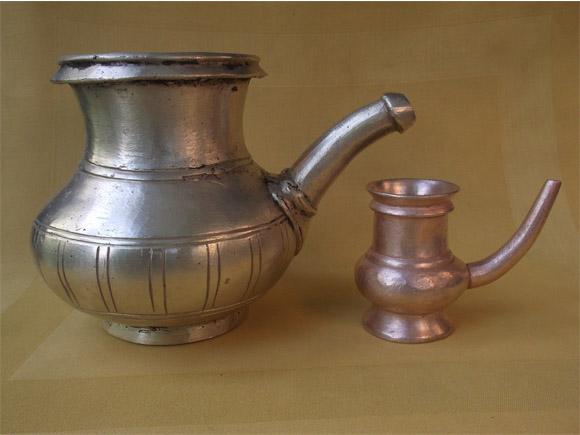 Antique Brass Kindi: Lota With A Spout